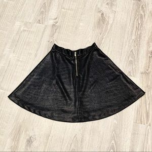 DYNAMITE BLACK HIGH WAISTED SKATER SKIRT